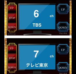 iPad上に今現在選択されている「テレビ局名」をテキストで表示。 さらにスマホ上に用意された「チャンネルUP」「チャンネルDOWN」を押した時、単にそのリモコンの信号を出さず、例えば「6CH」の時に「UP」を押すと「7CH」が発光されるというように、今のチャンネルに対して「1つアップ」または「1つダウン」のチャンネルをダイレクトに発光します。。 これにより、実際のチャンネルとiPad上の局名とを必ず一致させることが可できます。