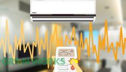 エアコンの電波リモコンー学習