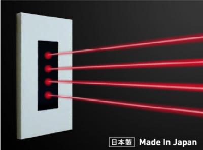 壁取付型タイプ赤外線発光器 部屋の壁の高い所に設置して広範囲に渡って照射。