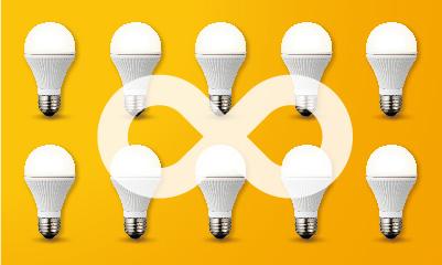 最大189万回路(理論上それ以上)の照明をたった1つのボタンで同時に操作できます。