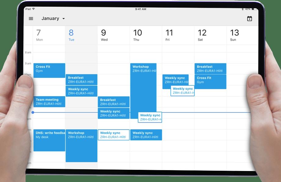 URLスキームを使ってカレンダーを起動するコマンドフュージョンアプリ